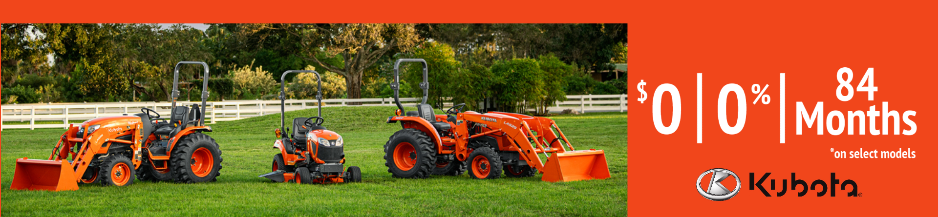 Kubota Equipment.